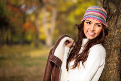 Fashion autumn woman Stock Image
