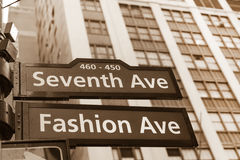 Fashion avenue street sign Royalty Free Stock Images