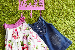 Fashion baby dresses Royalty Free Stock Image