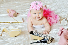 Fashion baby girl Stock Images