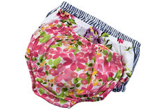 Fashion baby panties. Isolated on white Stock Images