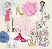 Fashion background vector illustration