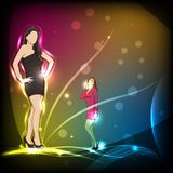 Fashion Background. Easy to edit vector illustration of lady in fashion background stock illustration