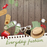 Fashion background. Colorful background with fashion design elements royalty free illustration