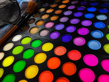 Fashion background  with Colorful makeup palette Royalty Free Stock Photos