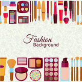 Fashion background. Flat icons collection. Stock Image