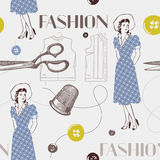 Fashion background with scissors. Stock Photo