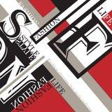 Fashion background, typographics Royalty Free Stock Photography