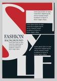 Fashion background, typographics Royalty Free Stock Image