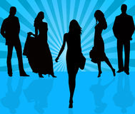 Fashion background vector. Fashion people  background vector illustration Royalty Free Stock Photography