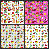 Fashion Backgrounds in Retro Comic Style Stock Image