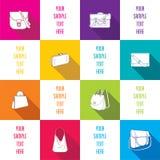 Fashion bag  infographics design Royalty Free Stock Photos