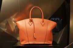 Fashion bag. Fashion luxury  showcase display shopping retail Stock Photo