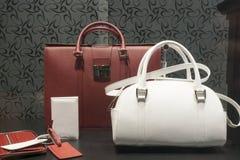 Fashion bag. Fashion luxury showcase display shopping retail Royalty Free Stock Photos