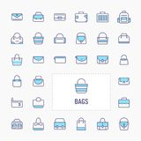 Bag Icon Set royalty free stock images