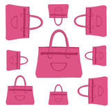 Fashion bag pattern Royalty Free Stock Image