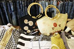 Fashion bags Stock Images