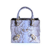 Fashion bags animals skins on background Stock Image