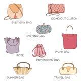 Fashion bags icon Stock Photos