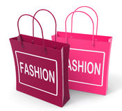 Fashion Bags Represent Fashionable Stock Images