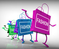 Fashion Bags Represent Trends Shopping and Designs Royalty Free Stock Images