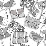 Fashion bags seamless pattern Royalty Free Stock Image