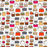 Fashion bags seamless pattern Stock Photos