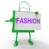 Fashion Bags Shows Fashionable and Trendy Products Stock Photos