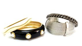 Fashion Bangles and Bracelets Royalty Free Stock Photo