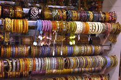 Fashion bangles in a market Stock Images
