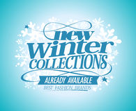 Fashion banner New winter collections. Stock Images