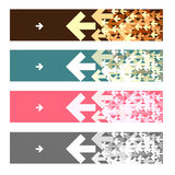 Fashion banners with gray brown pink green white arrow Royalty Free Stock Photo