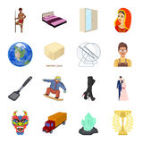 Fashion, barbecue, space and other web icon in cartoon style.Celebration, sport, transport icons in set collection. Fashion, barbecue, space and other  icon in Royalty Free Stock Images