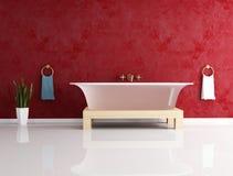 Fashion bathtube against stucco wall Royalty Free Stock Photography