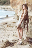 Fashion on a beach Royalty Free Stock Photos