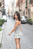 Fashion beautiful asian woman waling on the street Royalty Free Stock Image