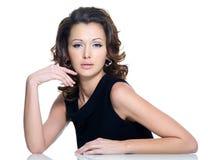 Fashion beautiful brunette woman Stock Photography