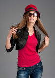 Fashion beautiful girl Royalty Free Stock Images