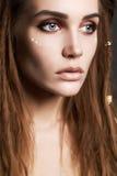 Fashion beautiful girl with dreadlocks. Royalty Free Stock Photo