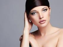 Fashion Beautiful Girl.Hairstyle.young beauty Woman Stock Photo