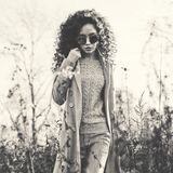 Fashion beautiful lady in autumn landscape Royalty Free Stock Photography