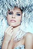 Fashion Beautiful Winter Woman. Fashion beautiful wnter woman portrait Stock Images