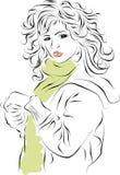 Fashion beautiful woman Stock Image