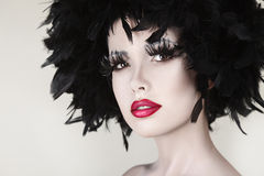 Fashion beautiful woman with creative art make up Stock Images