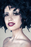 Fashion beautiful woman with creative art make up Royalty Free Stock Photo
