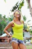 Fashion beautiful woman portrait wearing sunglasses Royalty Free Stock Photography