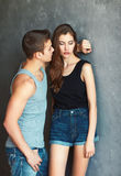 Fashion beautiful young couple Royalty Free Stock Photos