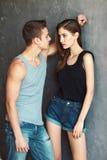 Fashion beautiful young couple Stock Photo
