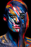 Fashion beauty color body art. Beautiful vivid rich color saturation Royalty Free Stock Photo