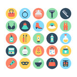 Fashion and Beauty Colored Vector Icons 2 Royalty Free Stock Photos